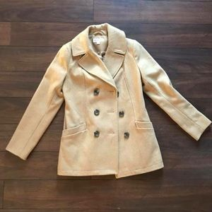 Merona tan wool peacoat